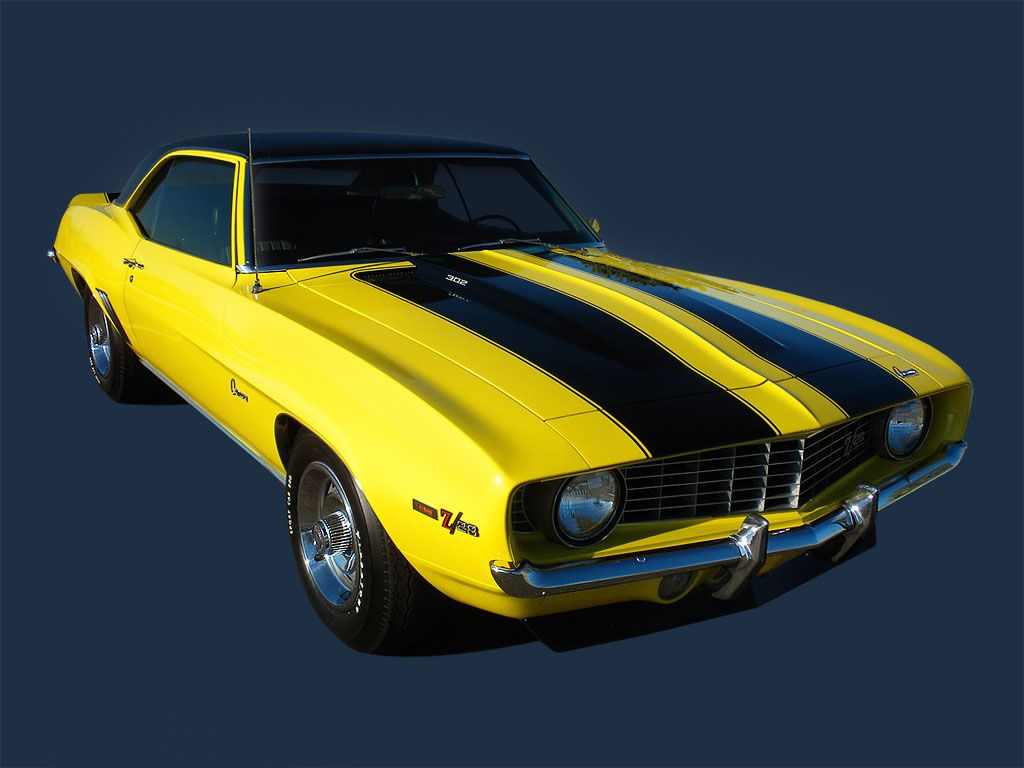 picture of Chevrolet Camaro, 1969, Z/28 302, yellow/black bumblebee