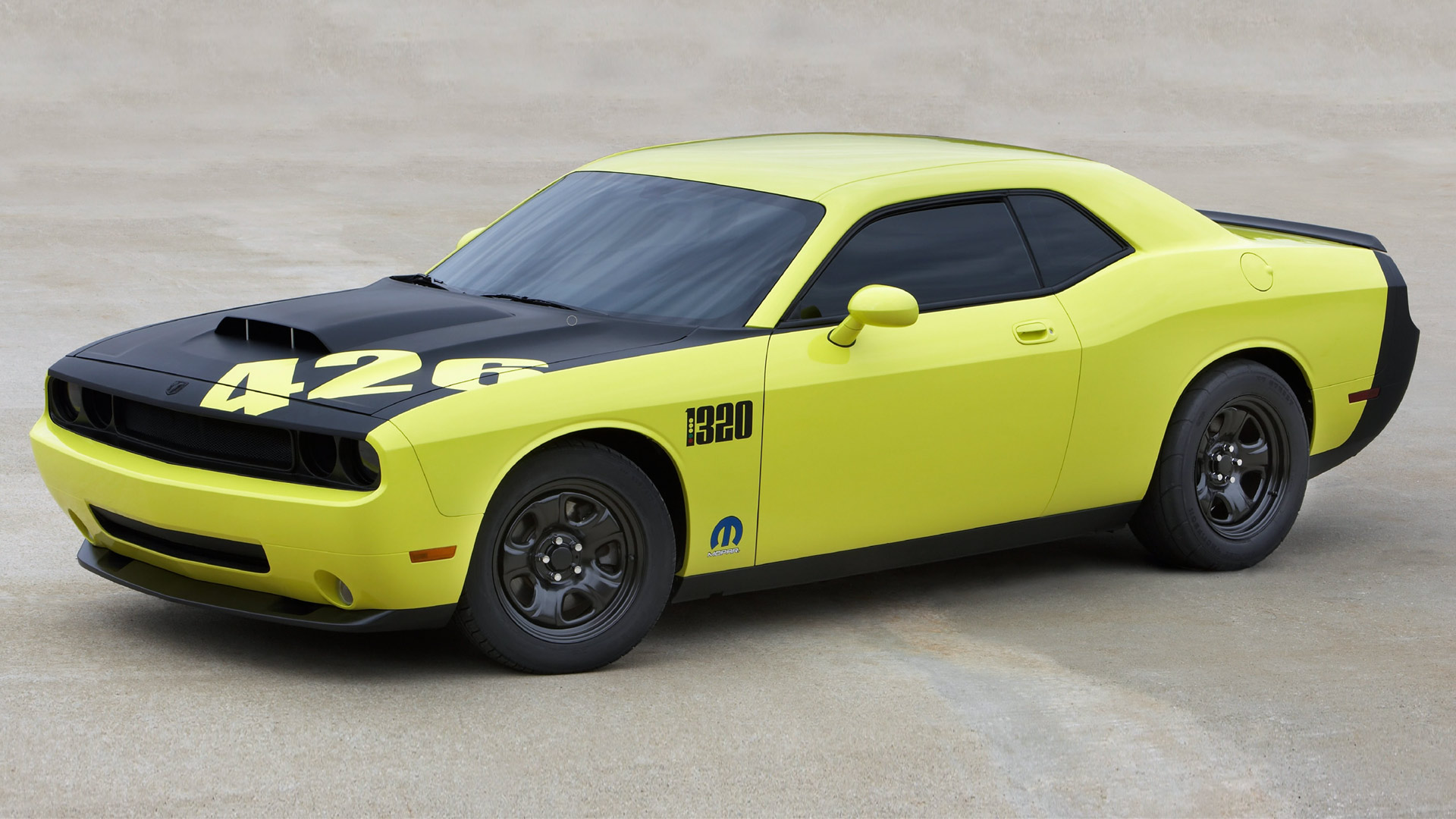 picture of Dodge Challenger, 2009, 426 Hemi, yellow/black
