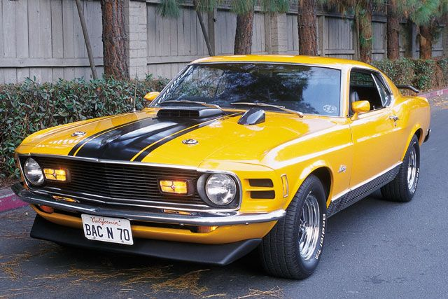 picture of Ford Mustang, 1970, Mach 1, yellow/black
